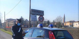 Molinella frazione Marmorta carabinieri