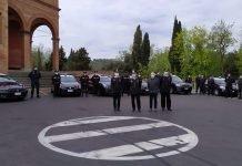 Bologna Angrisani saluto carabinieri