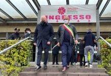 Bonaccini Tinti visita hub Castel San Pietro