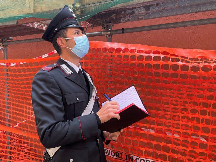 Carabinieri incidenti sul lavoro