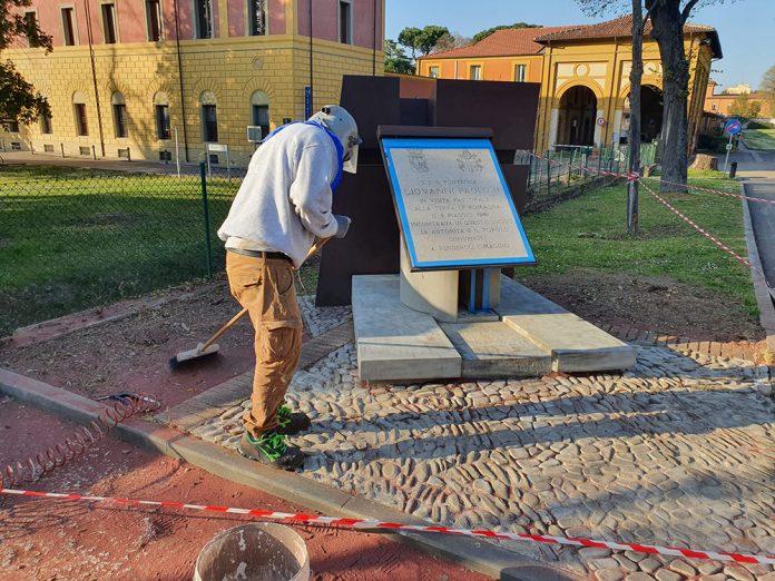 Imola lapide papa Giovanni Paolo