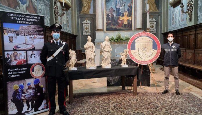 Opere restituite carabinieri Bologna