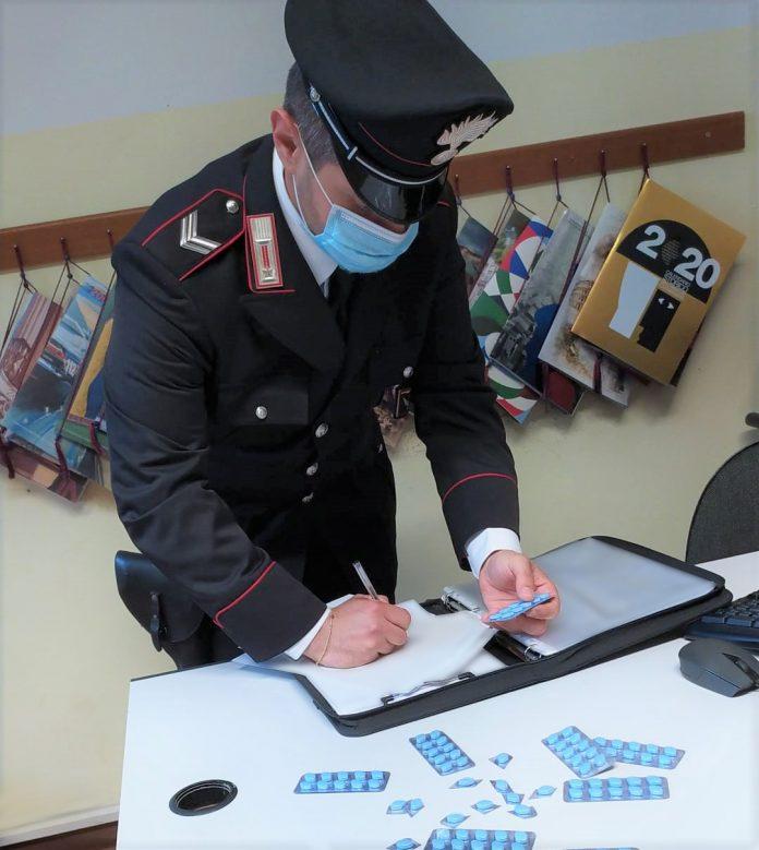Bentivoglio sequestro pillole blu carabinieri