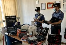 Carabinieri San Lazzaro merce rubata