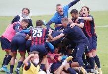 Imolese Calcio esultanza per salvezza 2021