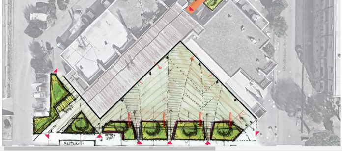 Imola piazza mozart rendering