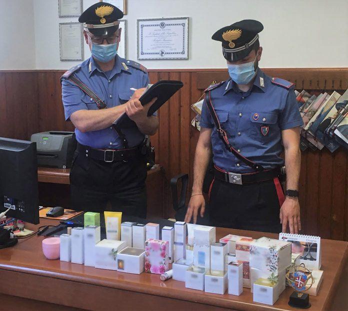 Pieve di Cento cosmetici rubati