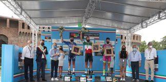 Podio campionati italiani ciclismo Imola