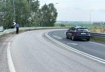 Rilievi carabinieri incidente moto medicina