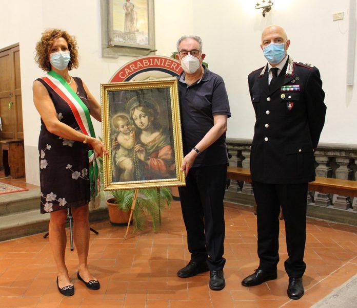 Carabinieri Tutela Patrimonio dipinto chiesa Signa
