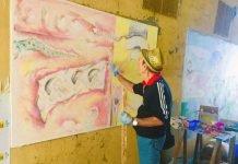 Luigi Allegri Nottari muro dipinto Dozza