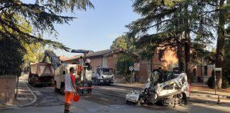 Lavori via Scania Castel San Pietro