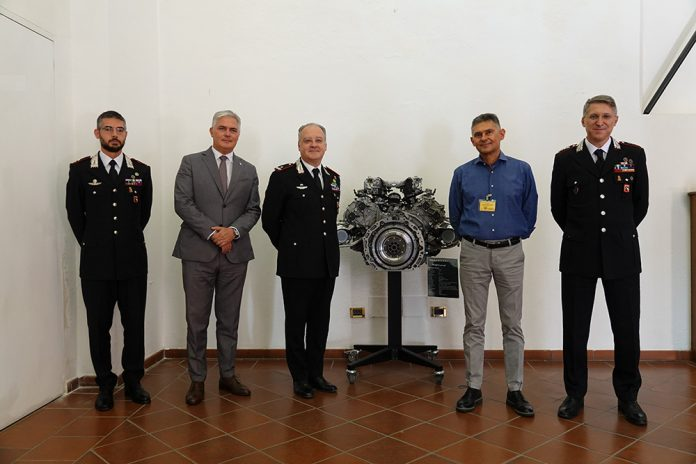 Motore Maserati sede Carabinieri Bologna