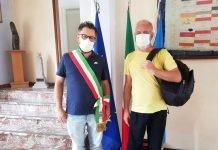 Sasso Marconi Andrea Dan e sindaco Parmeggiani