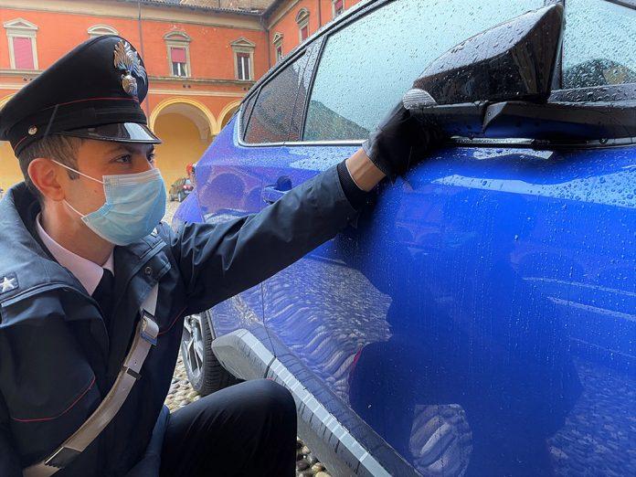 Danneggiamento auto parcheggio